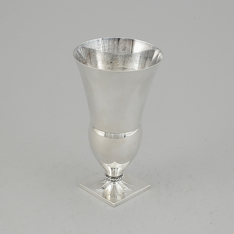 Just andersen, a silver vase, gab, stockholm 1929.