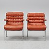 A pair of 'birgitta' easy chairs by bruno mathsson for dux. second half of the 20th century.