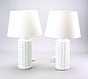 Helena tynell, a pair of glass table lamps for luxus.