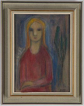 Nikolai Lehto, oil on panel, signed and dated -63.