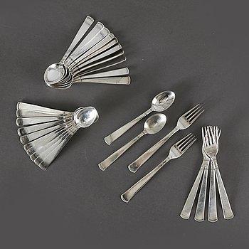 "Jacob Ängman, cutlery, 28 dlr, silver ""Rosenholm"", GAB Stockholm 1950s."