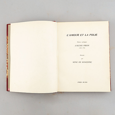 """Alexis piron and franz von bayros (ill.), """"l'amour et la folie"""" poèmes satiriques d'alexis piron (1689-1773), paris 1910."""