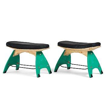 49. Anders Jakobsen / Radicalsloyd, a pair of stools, his own studio 2021.