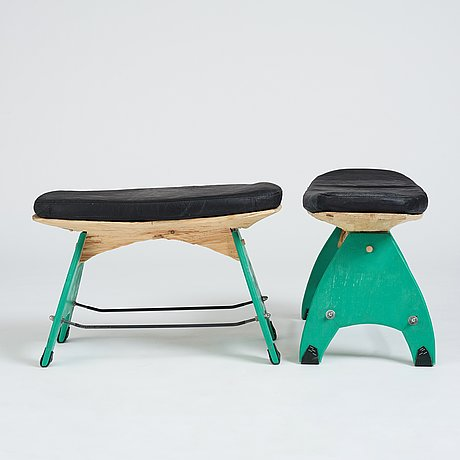 Anders jakobsen / radicalsloyd, a pair of stools, his own studio 2021.