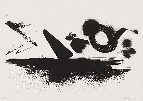 Egs, serigrafia, signeerattu ja päivätty 2012, numeroitu 11/16.
