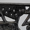 A cast iron fire place screen, olle hermansson, husqvarna, from the second half of the 20th century.