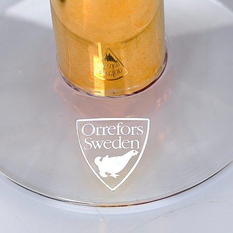 "Gunnar cyrén, a 31 pieces ""nobel"" glass service, orrefors, sweden, post 1991."