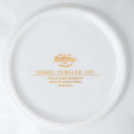 "Karin björquist, a 54 pieces ""nobel"" bone china dinner service, rörstrand post 1991."