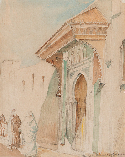 Hugo backmansson, watercolor and pencil, signed and dated-20.