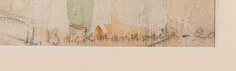 Hugo backmansson, akvarell och blyerts, signerad och daterad-20.