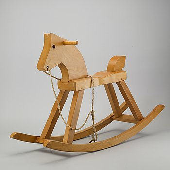 Kay Boyesen, a wooden rocking horse later part of the 20th century.