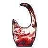 Emile gallé, an asymmetrical art nouveau fire polished cameo glass vase, nancy, france.