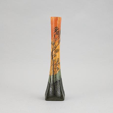 Legras & cie, an art noveau glass vase, saint-denis, france.