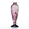 Emile gallé, an art nouveau fire-polished cameo glass vase, nancy. france.