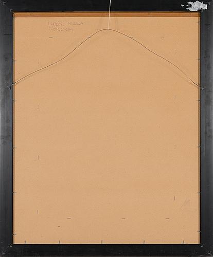 Nandor mikola, oil on panel, signed.