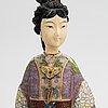 Figurin, cloisonnéemalj, kina, 1900-tal.