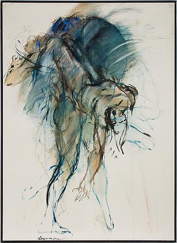 Bo åke adamsson, oil on canvas, signed.