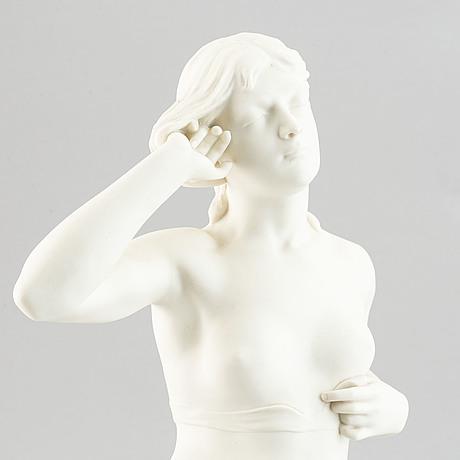 "A parian ware figurine after the sculpture ""snöklockan"" by per hasselberg, gustavsberg."