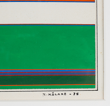 Nils kölare, gouache, signed and dated -75.