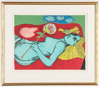 Beverloo Corneille, lithograph in colours, signed 44/120.