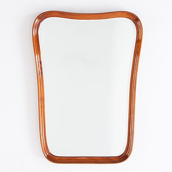 A 1940's stained beech mirror.