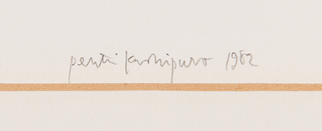 Pentti kaskipuro, dry point and aquatint, signed and dated 1982, numbered 22/100.