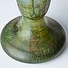 Daum, an art nouveau enamel painted cameo glass landscape vase.