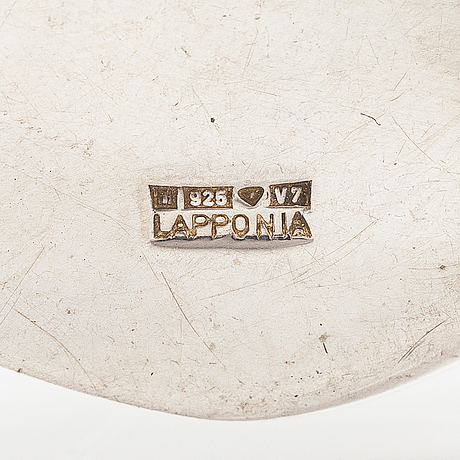 """Paul havgaard, a sterling silver necklace """"with love"""". lapponia 1974."""