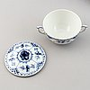 """A 92 pcs half lace porcelain dinner-and coffee service, """"musselmalet"""" from royal copenhagen."""