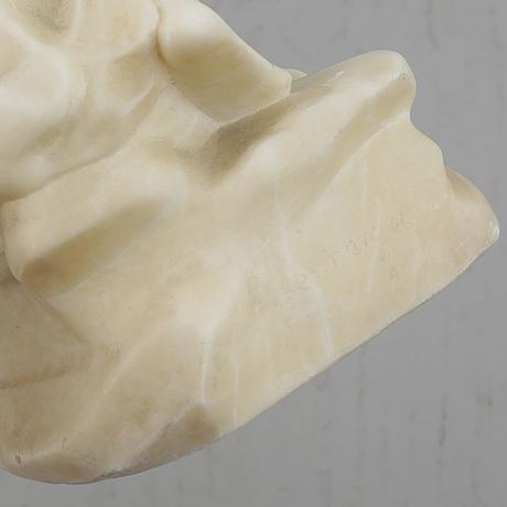 Ludwig eisenberger, sculpture, alabaster, signed.
