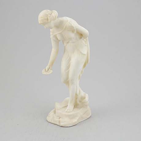 Ludwig eisenberger, sculpture, alabaster, signed.