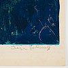 "Serge poliakoff, ""composition bleue et orange""."