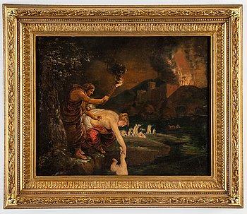 Peter Paul Rubens,  follower of, oil on copper.