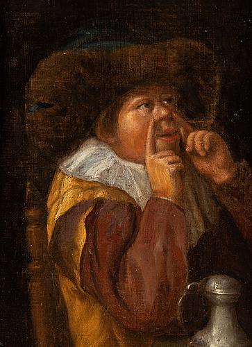 Jan miense molenaer, hans krets, olja på duk/pannå.