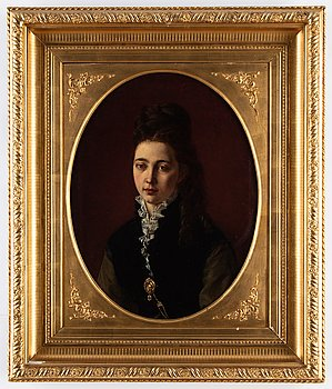 Unknown artist, 19th Century, oil on canvas, inditingtly signed Fanny Heymann?.