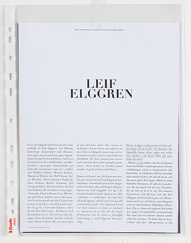 Leif elggren, photograph signed and numbered 1/5 on verso.