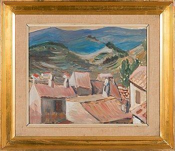 Yngve Bäck, olja på papper, signerad och daterad 1939.
