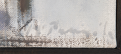 Marjukka paunila, oil on canvas, signed.