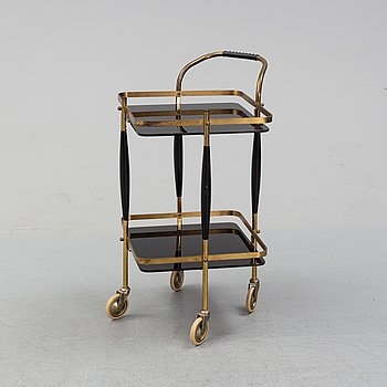 A mid 20th century serving trolley.