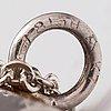 Elis kauppi, a silver and tiger's eye necklace. kupittaan kulta, turku 1963.