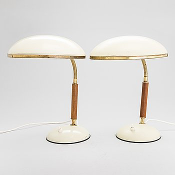 Two mid-20th century table lamps for Aris.