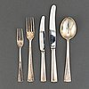 A swedish 20th century 51 piece sterling silver cutley-set, marked cgh, stockholm 1960.