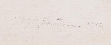 Silja rantanen, blyertsteckning, signerad och daterad på ramen 1997.