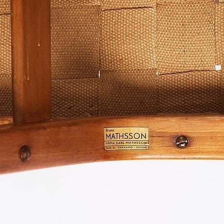 Bruno mathsson, a rare easy chair for firma karl mathsson, värnamo, sweden 1940's.
