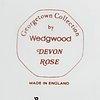A 86 pcs earthen ware devon rose dinner service from wedgwood.