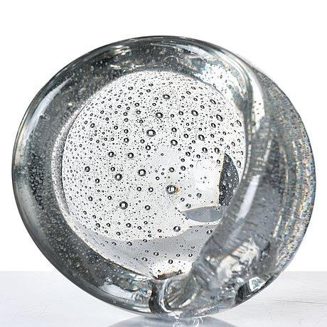 """Timo sarpaneva, a """"devil's pearl"""" glass bowl, iittala, finland 1956."""