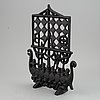 A cast iron fire guard/screen, olle hermansson. husqvarna, 1960's.