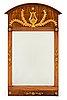 Spegel, empire, jonas frisk (spegelfabrikör i stockholm 1805-1824). bär jon: frisks spegelfabriks etikett.
