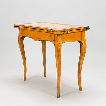 A Swedish 18th-century rococo style card table.