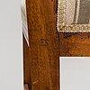 Stolar, ett par, ephraim ståhl (mästare i stockholm 1794-1820), signerade es.